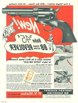 1960s P.Y.Hahn 45 BB Single Action Revolver & Draw Holster H