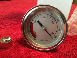 """2 1/2"""" BBQ SMOKER- TRAEGER GRILL THERMOMETER TEMP GAUGE 100-"""