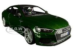 AUDI RS 5 COUPE METALLIC GREEN W/BLACK TOP 1/24 DIECAST MODE