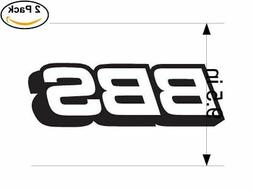 bbs logo 2 Stickers 9.5 Inches Sticker Decal