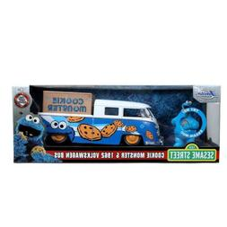 Jada Hollywood Rides: Cookie Monster & 1962 VW Bus 1/24 Scal