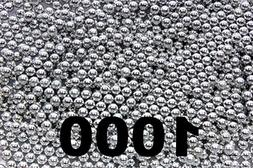 1000 ct Silver Zinc Plated Metal BB's 4.5mm